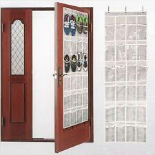 """Over The Door Shoe Organizer For 12 Pairs Hanging Storage Space Saving 64""""x19"""""""