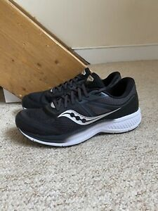 Men's Saucony Omni 19 Trainers/Shoes Black/White UK Sz. 8