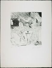 Signed Vintage Serigraph Print Knox Martin, Alice Wonderland Limited Edition 50