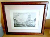 Four Framed Cirencester Prints Antique 35cm x 31cm 1800's