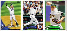 Topps 2001 2010 2011 2012 2013 & Update Finish your Set Pick 50