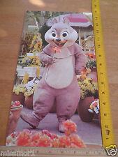 "Disneyland 1970's 8x14.5"" raised character costume Chip n'Dale birthday card"