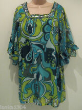 Lila Polyester Blue Paisley Dress with Glitter Sequin Neck (NEW)size 10-£32.00