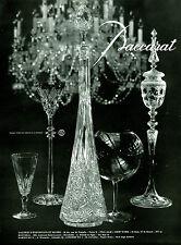 Publicité ancienne cristal Baccarat 1959