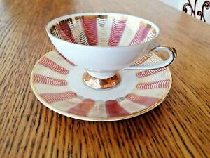 VINTAGE COLLECTABLE WINTERLING BAVARIAN PORCELAIN TEA CUP & SAUCER UNUSED