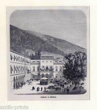 Wildbad - Original Holzstich von Mauch und Kunz 1866