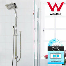"""WELS 2in1 Square Shower Head Rail Set Double Rose Handheld Sprayer 8"""" 200MM"""