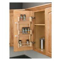 3 Shelf Kitchen Pantry Cabinet Door Mount Organizer Storage Spice Rack Wood New