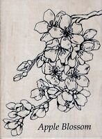 Personal Impressions - Rubber Stamp on Wood - Apple Blossom - 80R