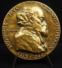 Médaille peintre Paul Cézanne Impressionnisme Bastide du Jas de Bouffan Medal