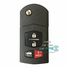Replacement Key Shell fit for MAZDA 3 5 6 RX8 CX7 CX9 Flip Remote Key Case 4 BTN