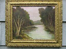 Nice Antique Framed Oil on Board Landscape Painting