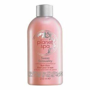 Avon Planet Spa Sweet Sensuality Bath Elixir with Jasmine Oil 250 ml New