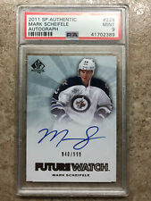 11-12 SPA SP Authentic Rookie FW Future Watch Graded PSA 9 MARK SCHEIFELE /999