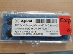 AGILENT 5182-9673 FRONT FERRULE,0.74MM ID FOR .8MM OD COLUMNS (10/PACK)