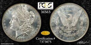 1883-O Morgan Dollar PCGS OGH MS-63 Gold CAC
