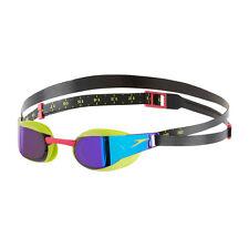 NEW Speedo Fastskin Elite Mirror Goggles – Lime Green/Purple