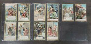 Ten Commandment Embossed Postcards Set 1900's Raphael Tuck