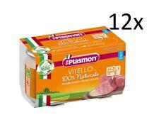12x PLASMON Omogeneizzato Vitello homogenisiert Babynahrung ab 4 Monaten 2x80g