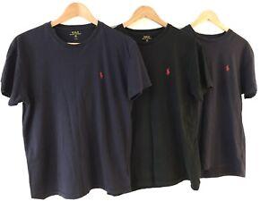 3 X Mens Ralph Lauren T-shirts, Size Small, 2xNavy 1xBlack