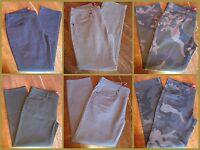 Men's Arizona Skinny Jeans 29, 30 or 31, Camo Grey Olive Blue Black, New