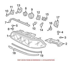 For BMW Genuine Headlight Front Left 63126900199