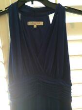 Evan Picone Woman's Cocktail Dress Sz 10 Sleeveless Blue Elegantly Sexy