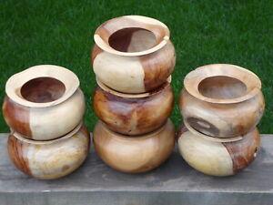 Wooden Rustic Round Teak Bowl..Choose Your Bowl..MULTI LISTING..