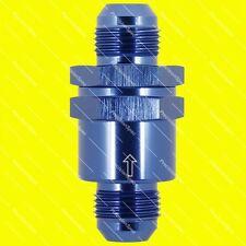 AN10 10AN Aluminium Inline Non Return One Way Check Valve Blue W/ 1Yr Warranty