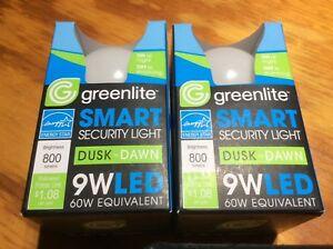 (2 pack) Dusk To Dawn LED  60watt Security Light Bulb Warm White 3000k A19
