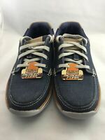 Skechers Mens Memory Foam Expected Orman Boat Casual Canvas Shoe Navy Size 7