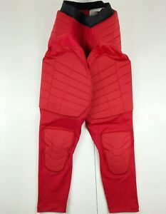 NEW Nike Pro Hyperstrong Red Padded Compression Tights Custom Athlete AH2261-657