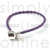 Real Leather Braided Charm Bracelet With Silver Plated Clasp…