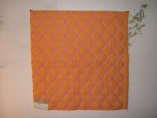 """Highland Court """"Taza"""" outline quilted brocade fabric remnant, color clementine"""