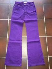 Damen Jeans Hose lila Bootcut Glitzer Gr. 40 (38/40) von Miss Grase Jeans