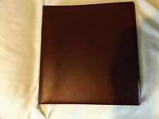 (AP2076) BURGUNDY LINDNER 18 RING DUAL STAMP ALBUM EMPTY NO PAGES