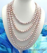 "100"" 11mm round lavender freshwater pearl necklace"