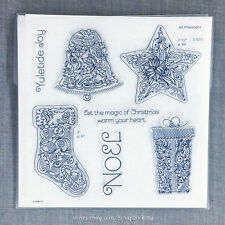 Close to my Heart S1610 Yuletide Joy Acrylic Stamps - Bell, Stocking, Star, Gift