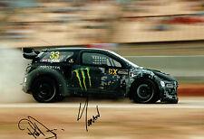 Liam & Pat DORAN Double Signed 12x8 Photo Autograph AFTAL COA Rallycross Driver