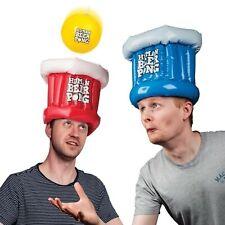 Trinkspiel XXL Beer Pong mit aufblasbaren Hüten und Ball Saufspiel Spiel