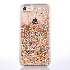 Shockproof Diamod Glitter Star Liquid Back Case Cover For  iPhone SE 7 6s plus