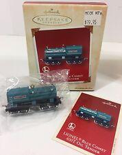 Hallmark Lionel Train Blue Comet 400T Oil Tender  Christmas Ornament QX8243 NOS