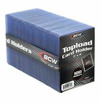 100 STANDARD 3x4 BCW TOPLOADER CARD HOLDER - 100 CT PACK - BRAND NEW & SEALED