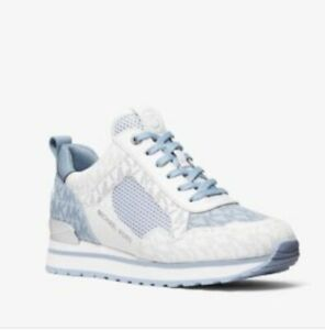 Michael Kors Women's Wilma Trainer Sneakers Shoes Pale Blue