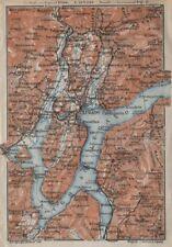 Lake/lago di lugano topo-carte. suisse italie italia carte karte 1913