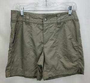 Columbia Titanium Omni Dry Womens Packable Hiking Shorts Size 8 Khaki Beige