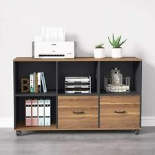 Tribesigns 2drawers Lateral File Cabinet With Open Storage Shelves For Home Office