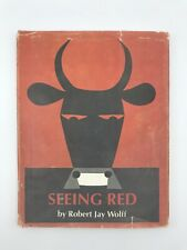 Rare Seeing Red Robert Jay Wolff Abstract Color Theory Obscure Children's Book