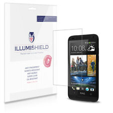 iLLumiShield Phone Screen Protector w Anti-Bubble/Print 3x for HTC Desire 601