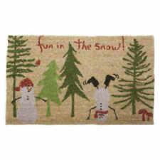 Tag Fun In The Snow Natural Coir Doormat